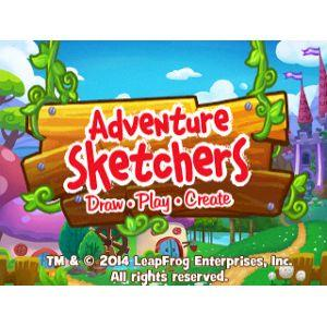 Logo for Adventure Sketchers! Draw, Play, Create Learning Game