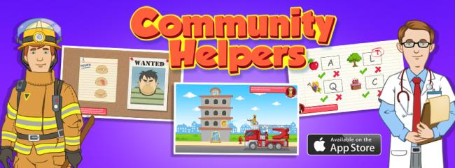 Logo for Community Helpers Play & Learn