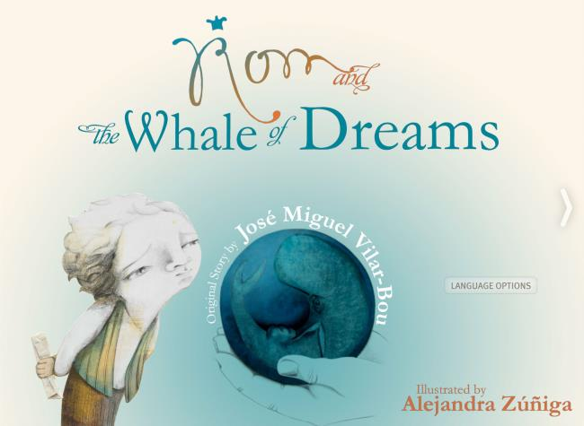 Logo for Rom and the whale of dreams