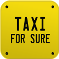 Logo for TaxiForSure - book airport, bus, city, railway taxi