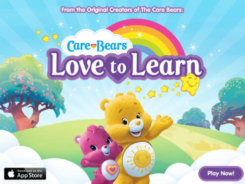 Logo for Care Bears Love to Learn App