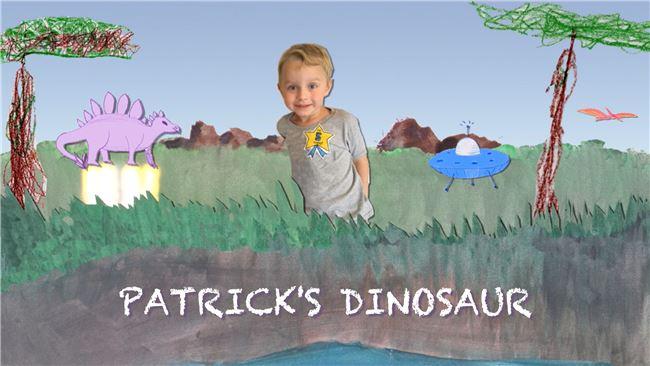 Logo for Patrick's Dinosaur: Aliens & Diggers