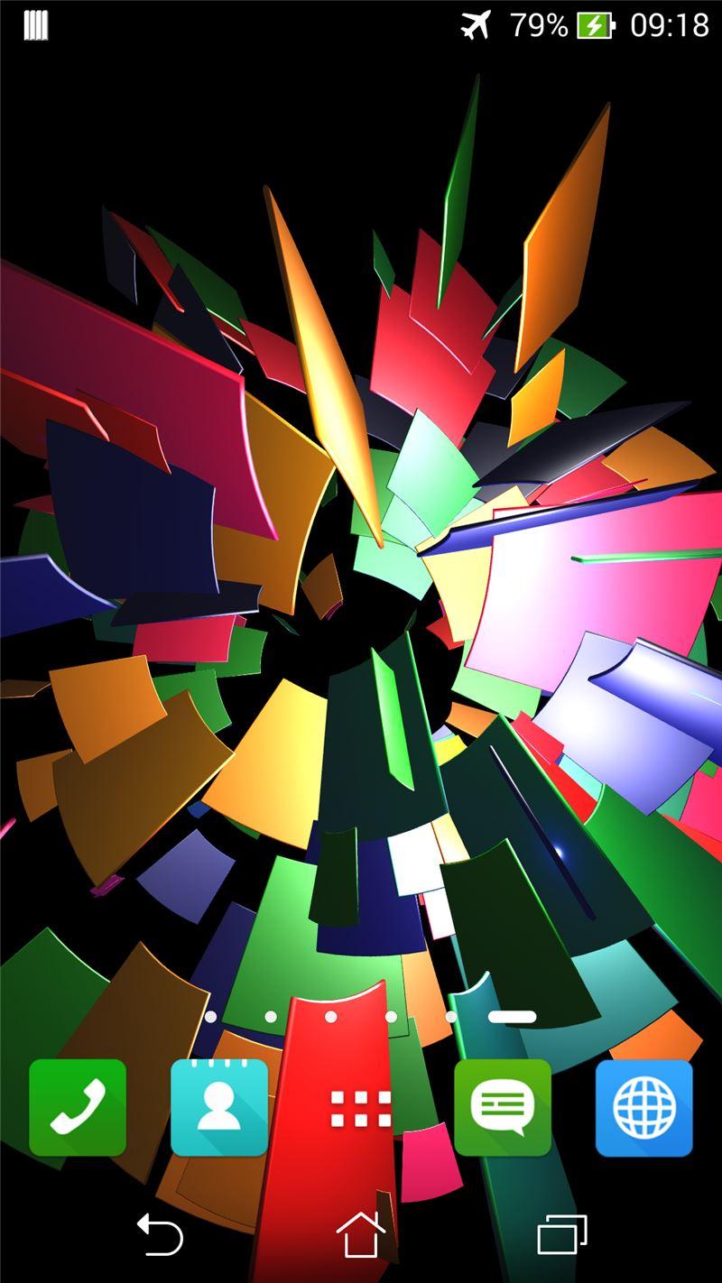 Hover Blocks 3D Live Wallpaper Mobile App