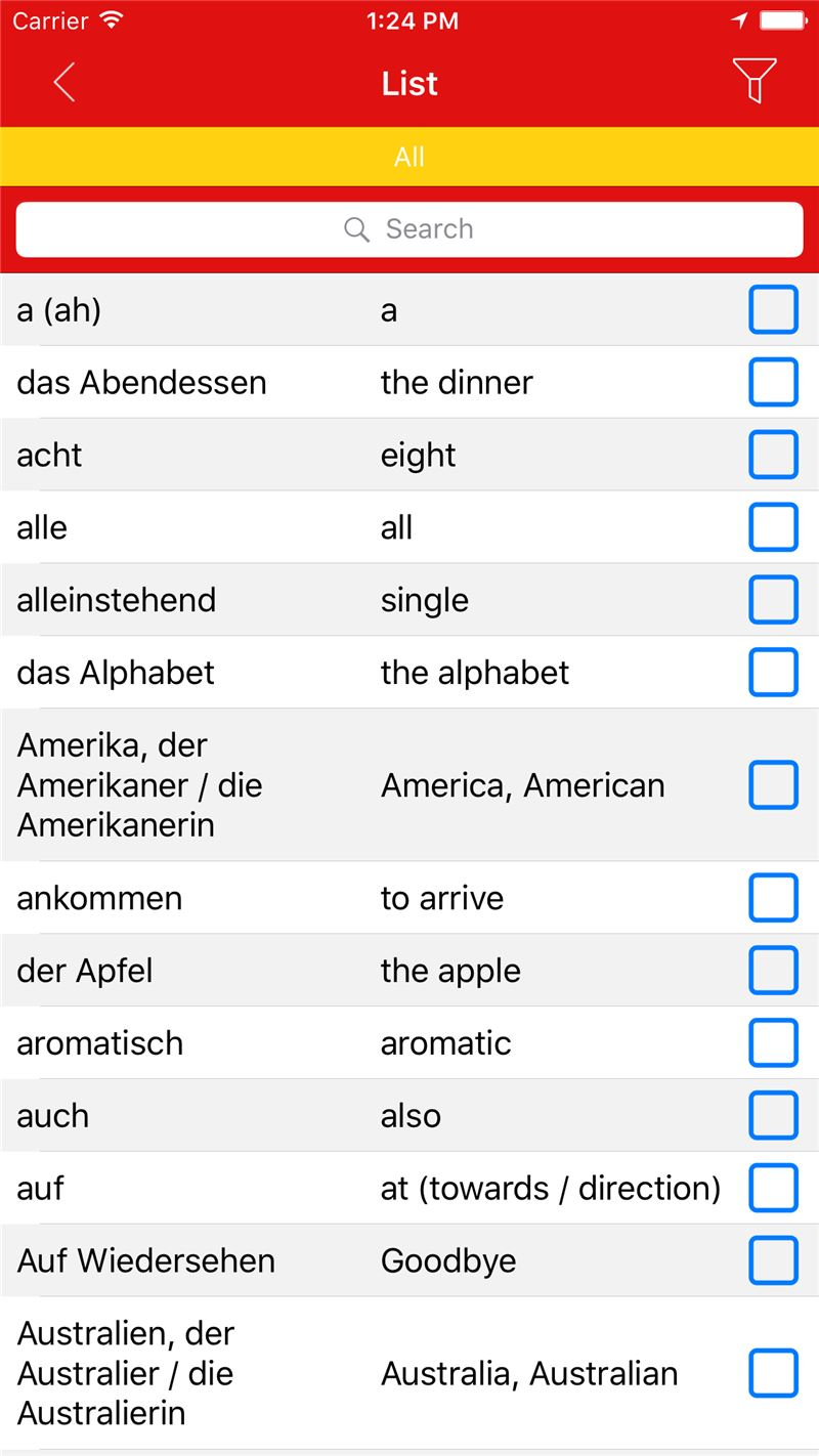 RoteStar German - Spoken vocabulary and pronunciation Mobile