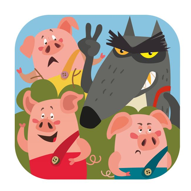 Logo for The Adventures of the Three Little Pigs