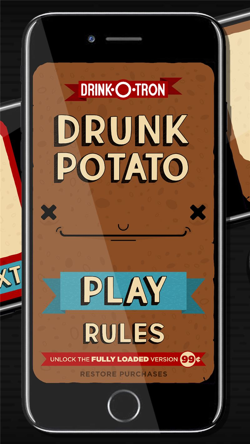 Drunk Potato: Drink-O-Tron Games Drinking Game Mobile App