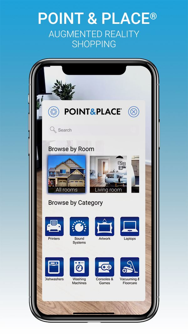 Logo for 'POINT AND PLACE AR SHOPPING APP'