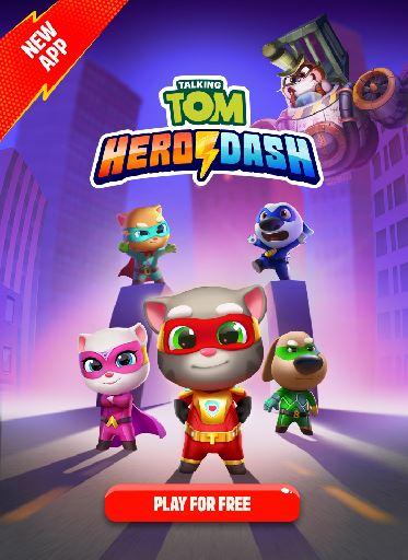Logo for Talking Tom Hero Dash
