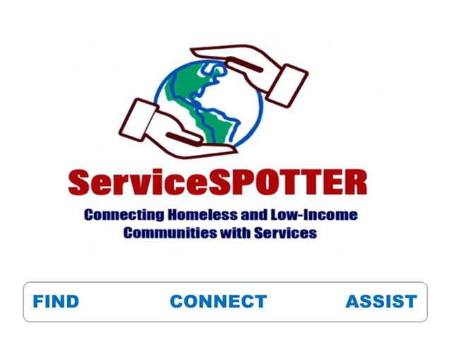 Logo for Service SPOTTER App: Connecting Homeless and Low-income Communities with Services