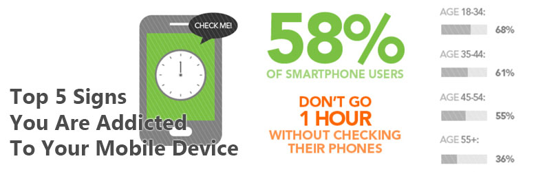 Top 5 Signs You Are Addicted To Your Mobile Device